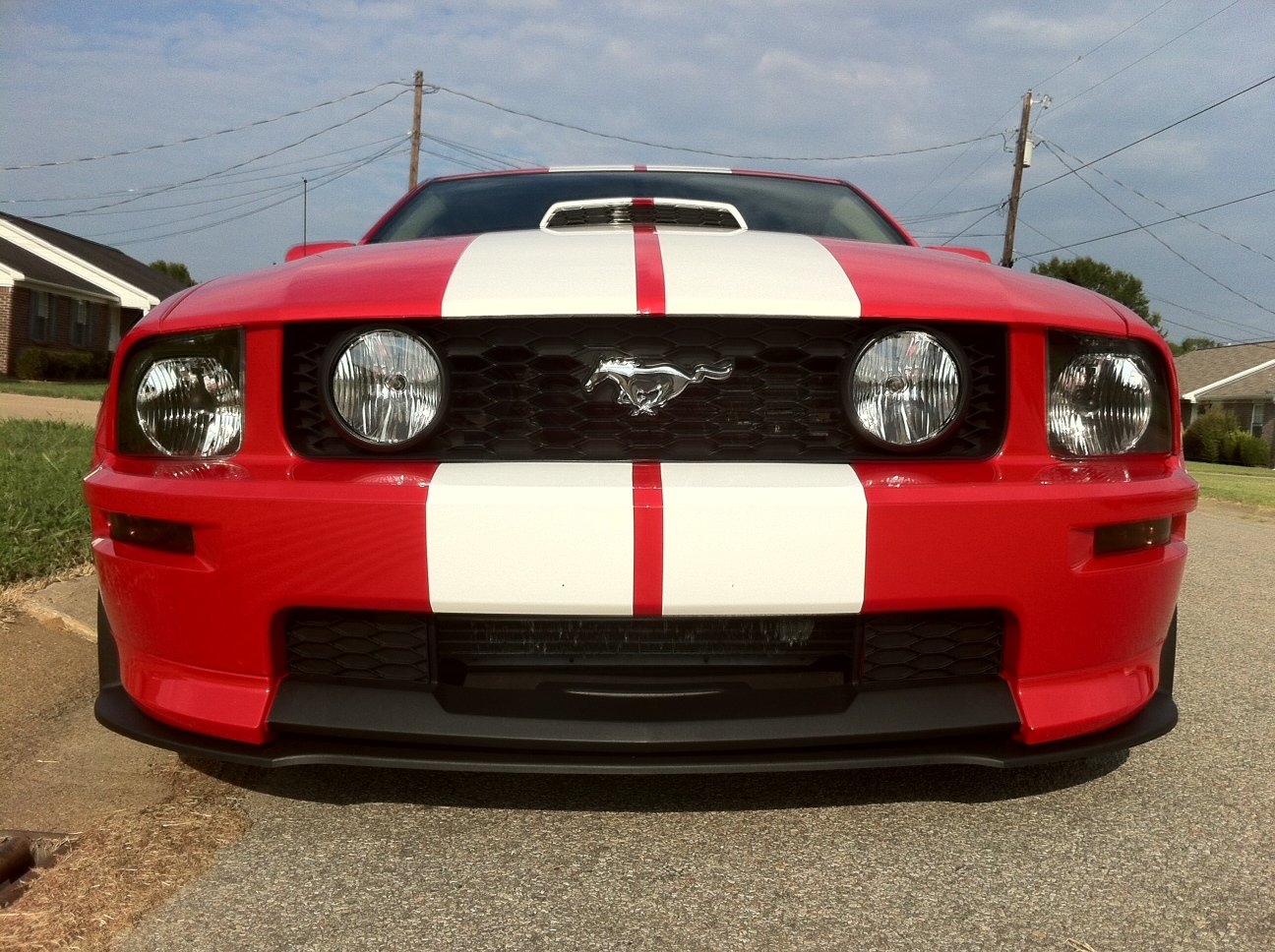 Gt Cs Front Bump Cov And Gt500 Chin Spoiler Installed Ford 2007 Mustang California Special Click Image For Larger Version Name 001 Views 13633 Size 5527