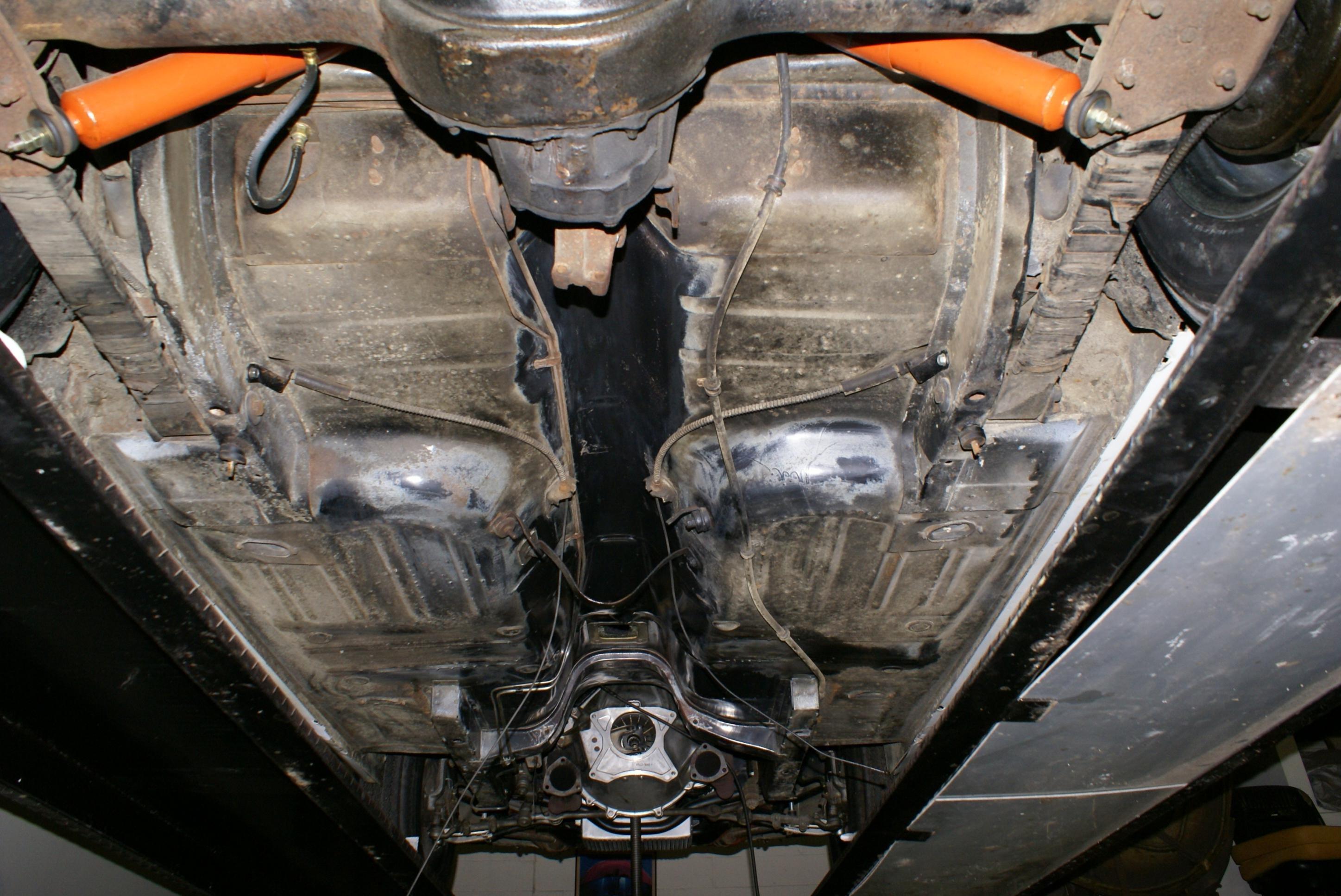 Rear Parking Brake Routing - 65 Conv