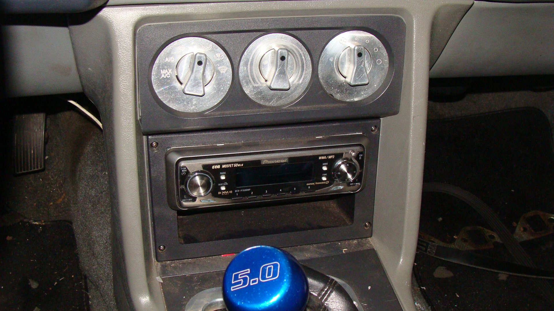 D Cd Changer Custom Dash Install Foxbody Mustang on 2003 Ford Mustang 4 6l Engine
