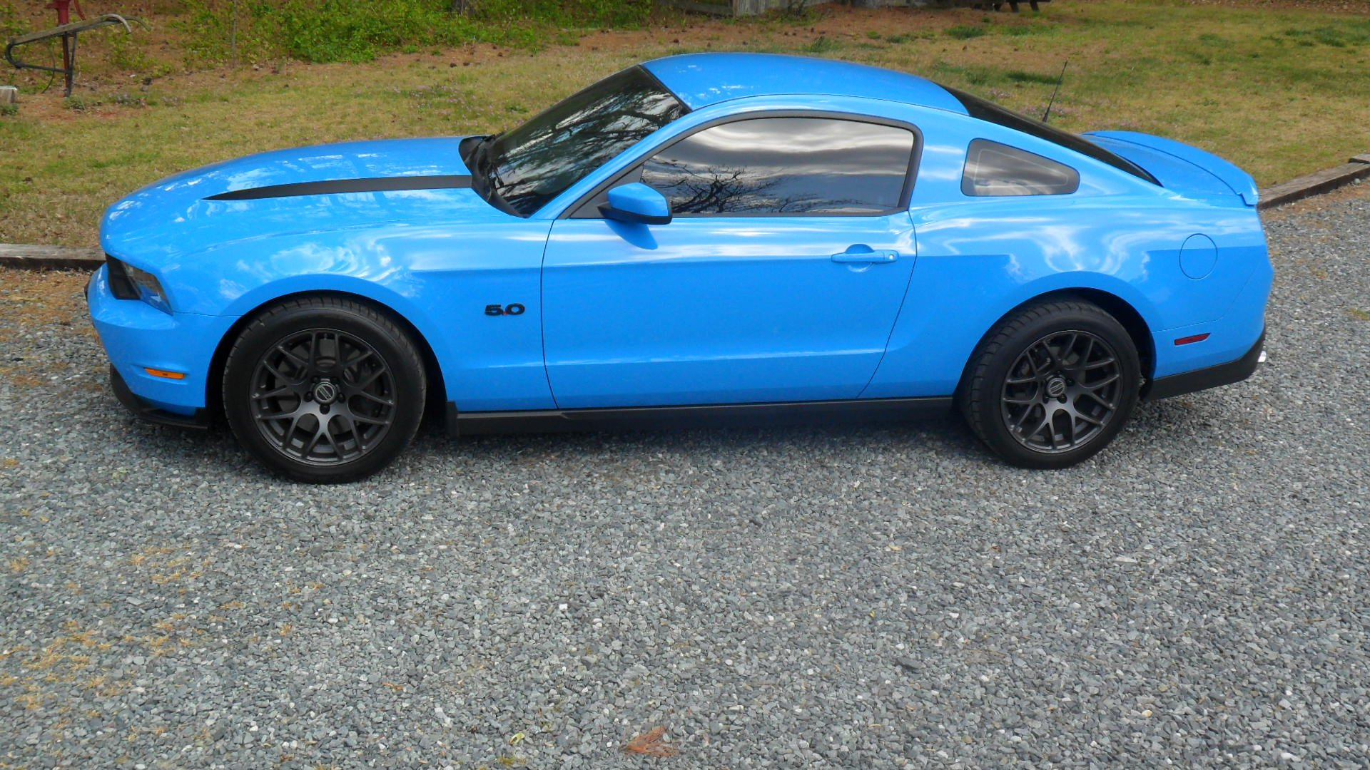 2012 Grabber Blue Mustang Gt One Year Later Ford