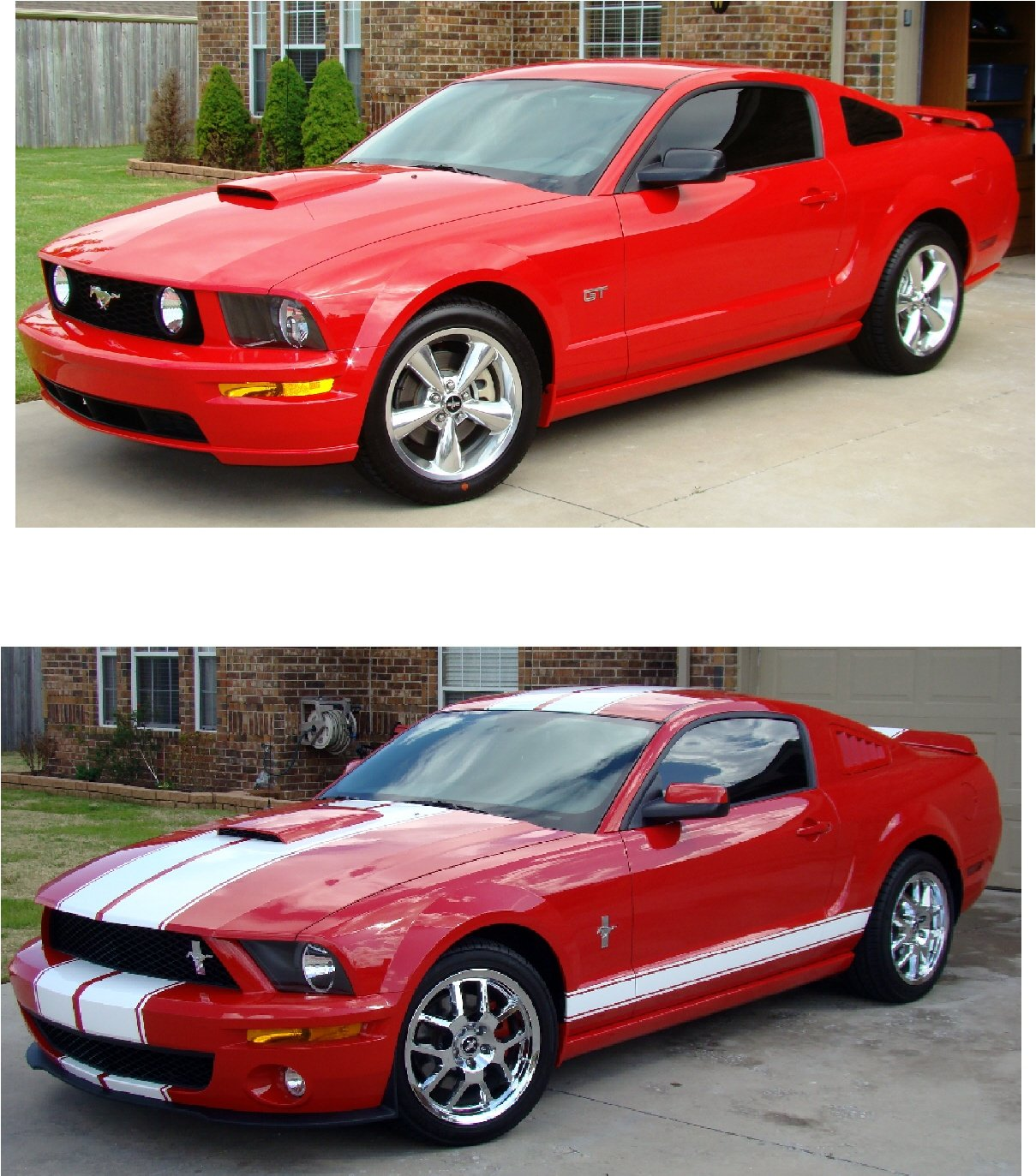 Lets see your before and after exterior mods photos - Mustang modification ...