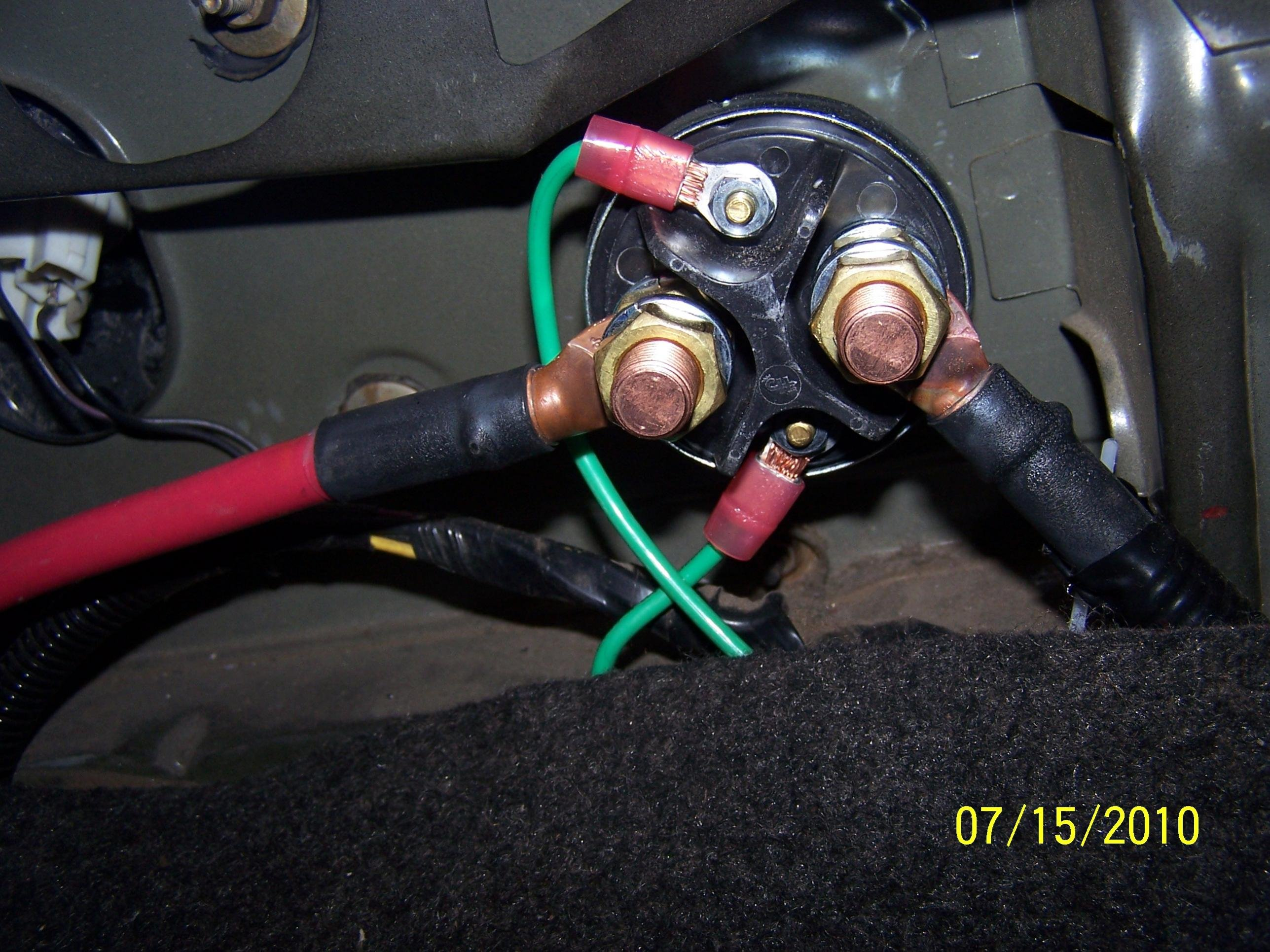 Wiring A Switch To Starter Solenoid On Dodge Library Infiniti Remote Diagram Battery Relocation W 4 Post Kill Install Pics 100 0132