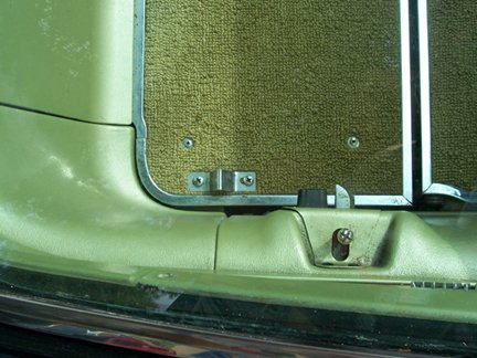 65 had a rubber bumper to stop the seat back. The 66 latch did not