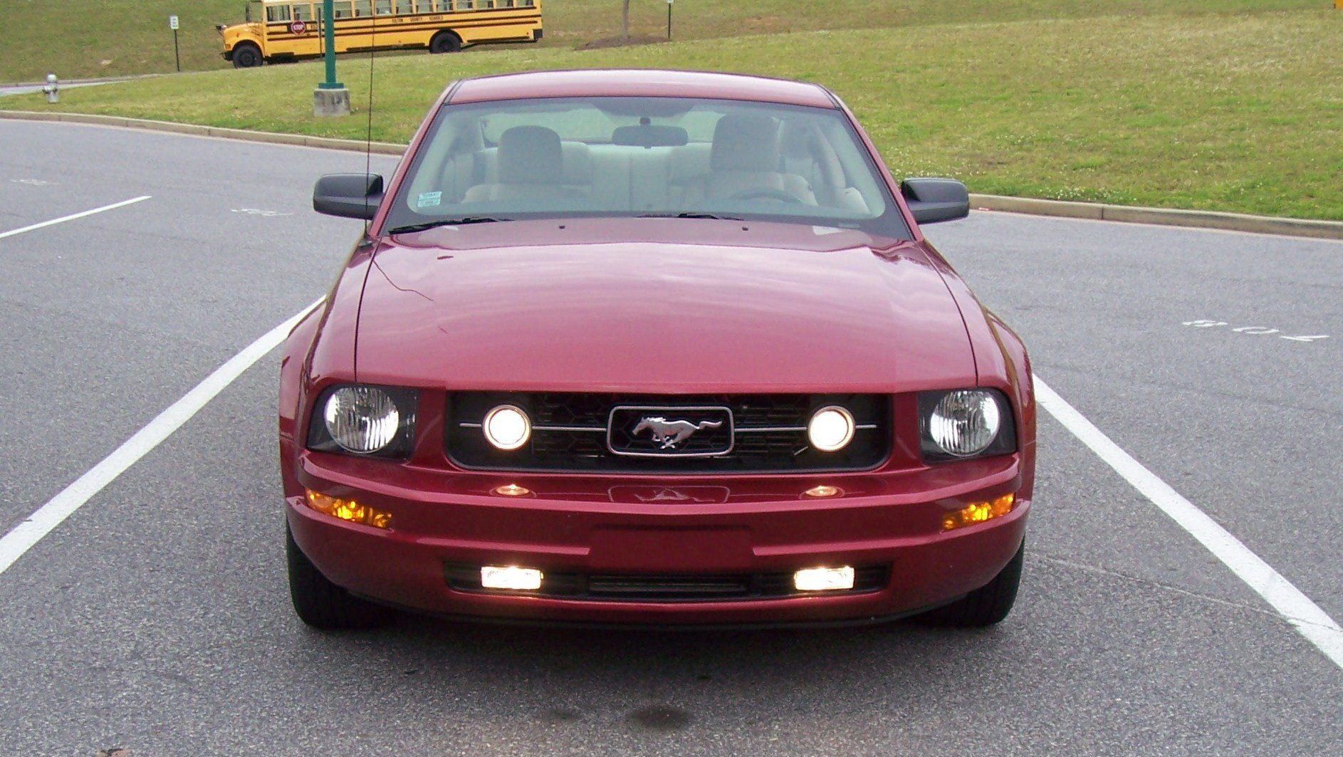 fog lights mustang pony package 2007 v6 custom 2005 ford gt headlights allfordmustangs 2070 pkg question location only