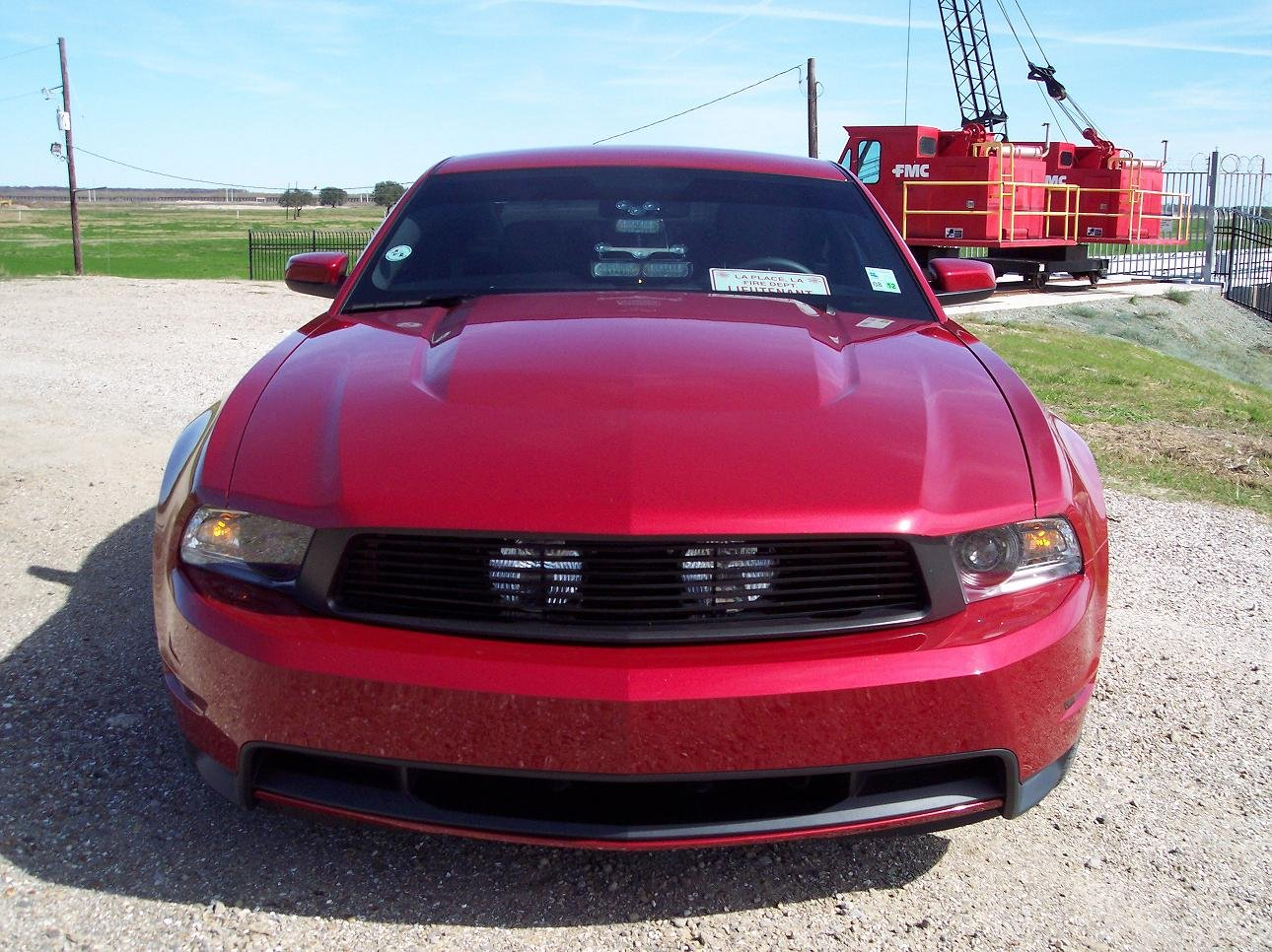 2011 Mustang Gt Billet Grille With Fog Lights Ford