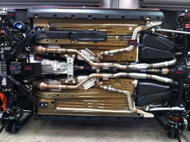 Boss 302 Exhaust With Roush Side Splitters Ford Mustang