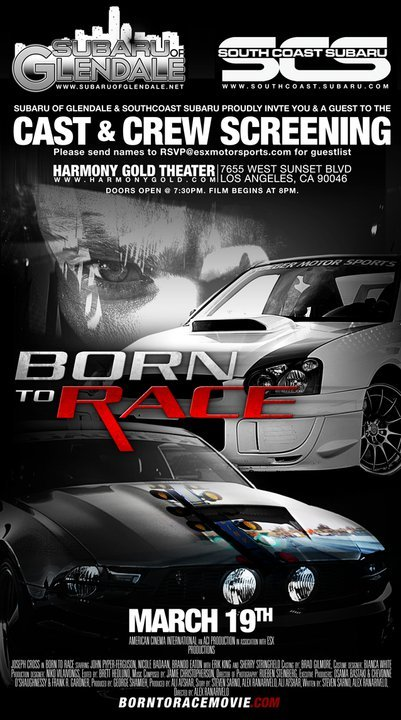 born to race movie screening ford mustang forum. Black Bedroom Furniture Sets. Home Design Ideas