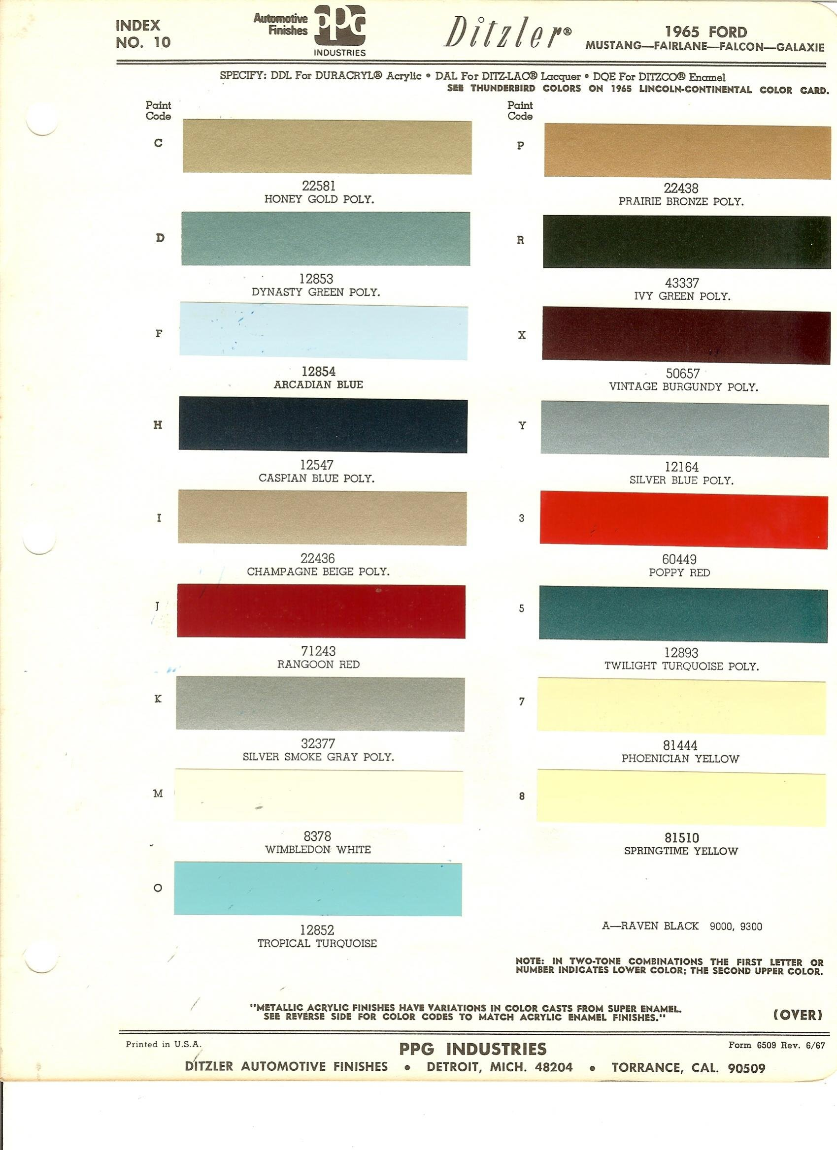 Color code v on a 65 mustang ford mustang forum click image for larger version name 1965 colorsg views 19593 size nvjuhfo Choice Image