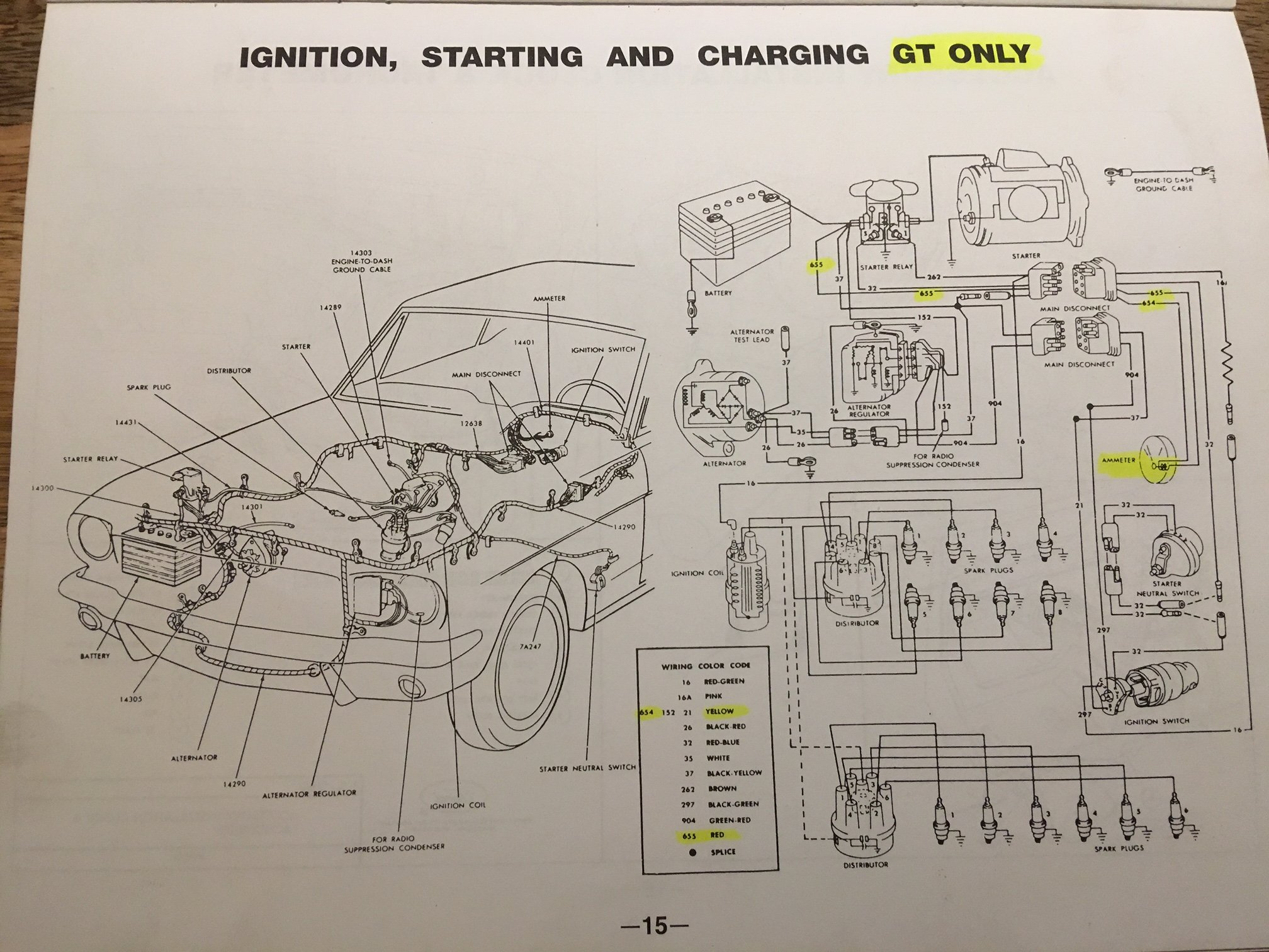 [FPWZ_2684]  65 GT: Ammeter pegged, and mystery white/black wire | Ford Mustang Forum | Induction Amp Meter Wiring Diagram Ford |  | All Ford Mustangs