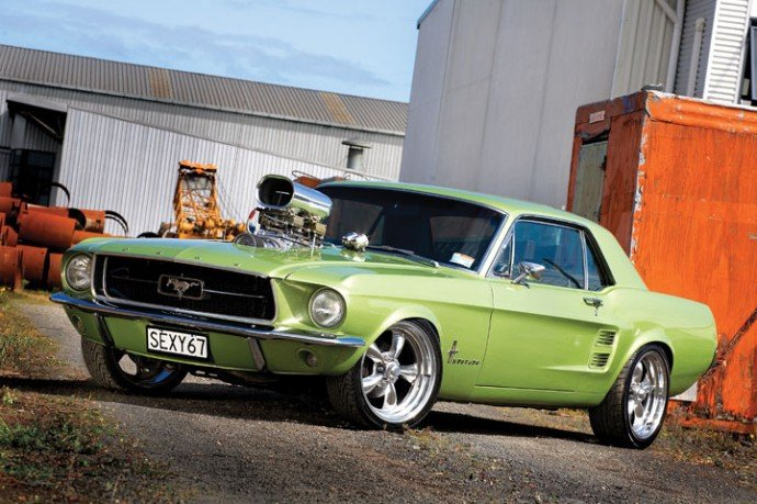 click image for larger versionname1967 ford mustang nzv8 30 00 - 1967 Ford Mustang Coupe Green