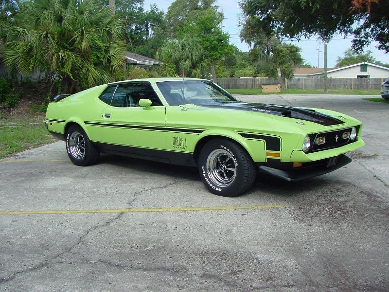 1971 Ford mustang mach 1 colors #6