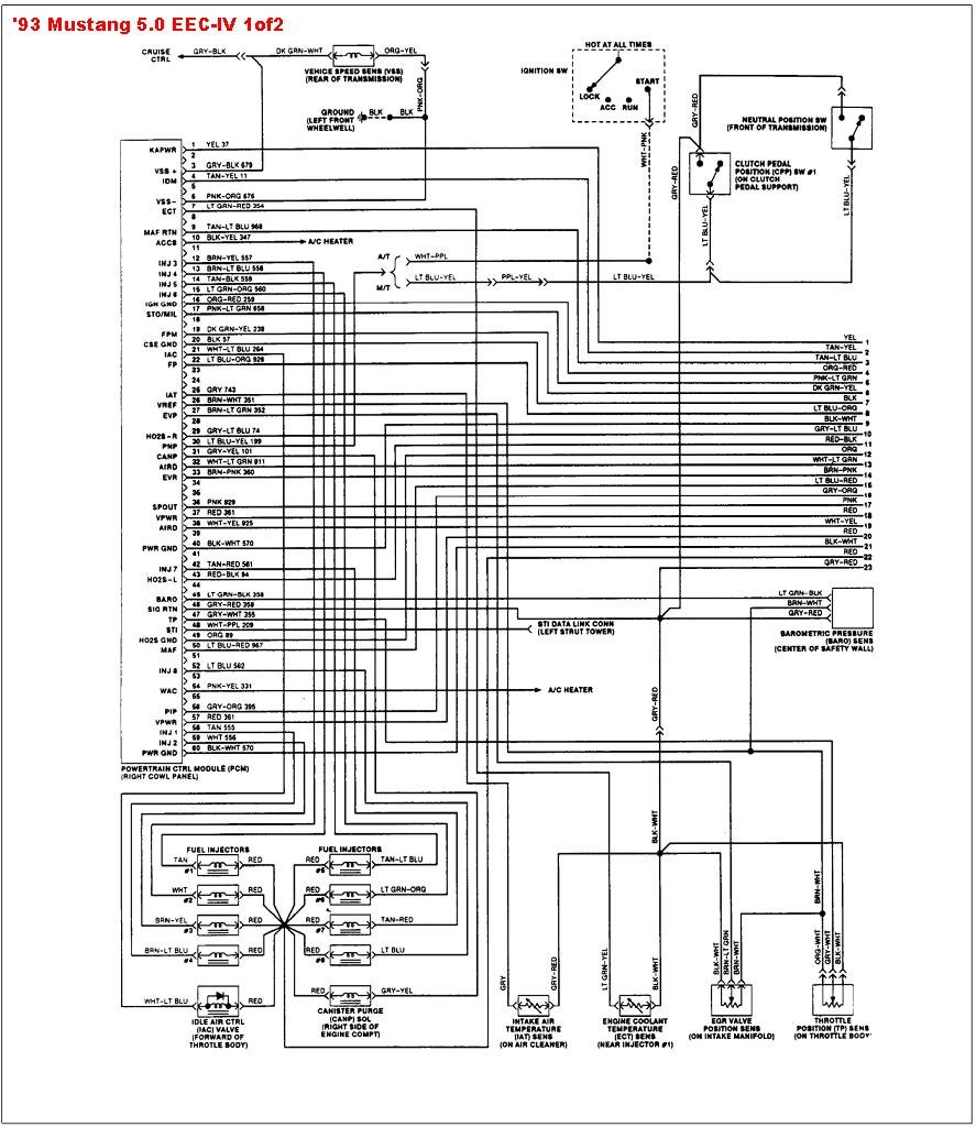 Wiring Diagrams 1995 Mustang Cobra 1993 Ford Diagram Schematic Block And U2022 1999