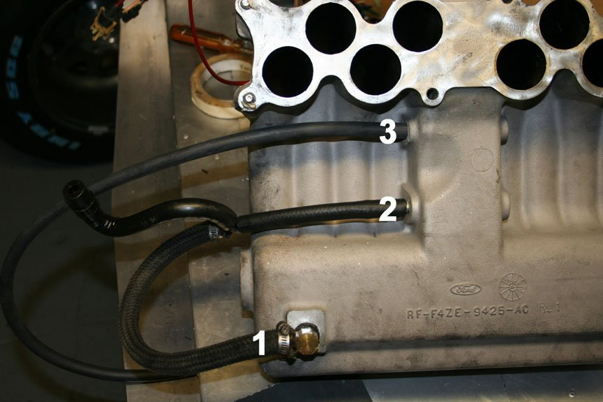 need help with intake   egr vacuum lines     Ford       Mustang    Forum