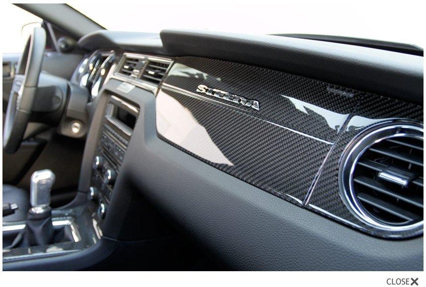 Carbon fiber interior trim kits