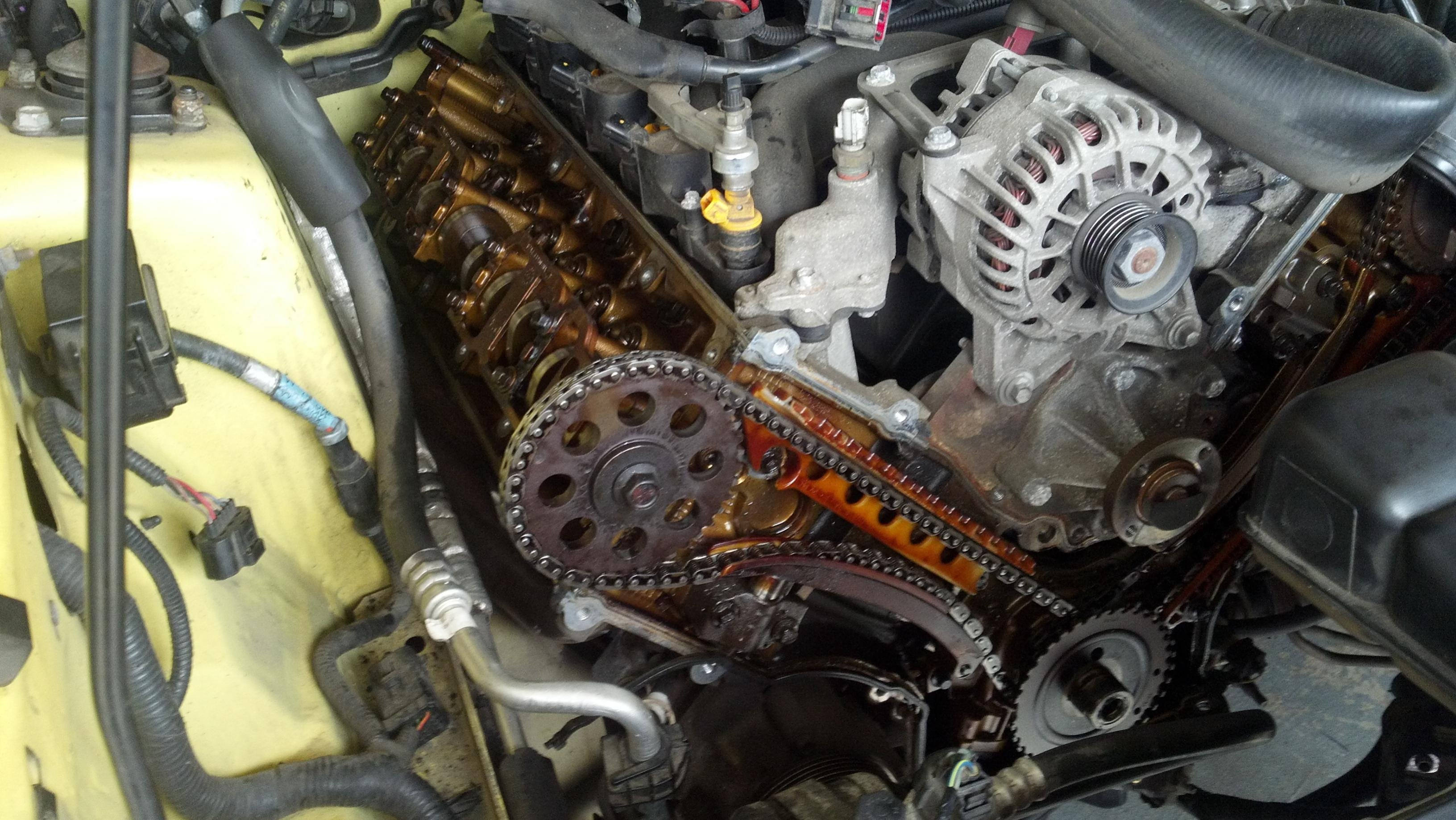 5 4l 3 valve engine diagram timing chain guide tensioner replaced ford mustang forum  timing chain guide tensioner replaced ford mustang forum