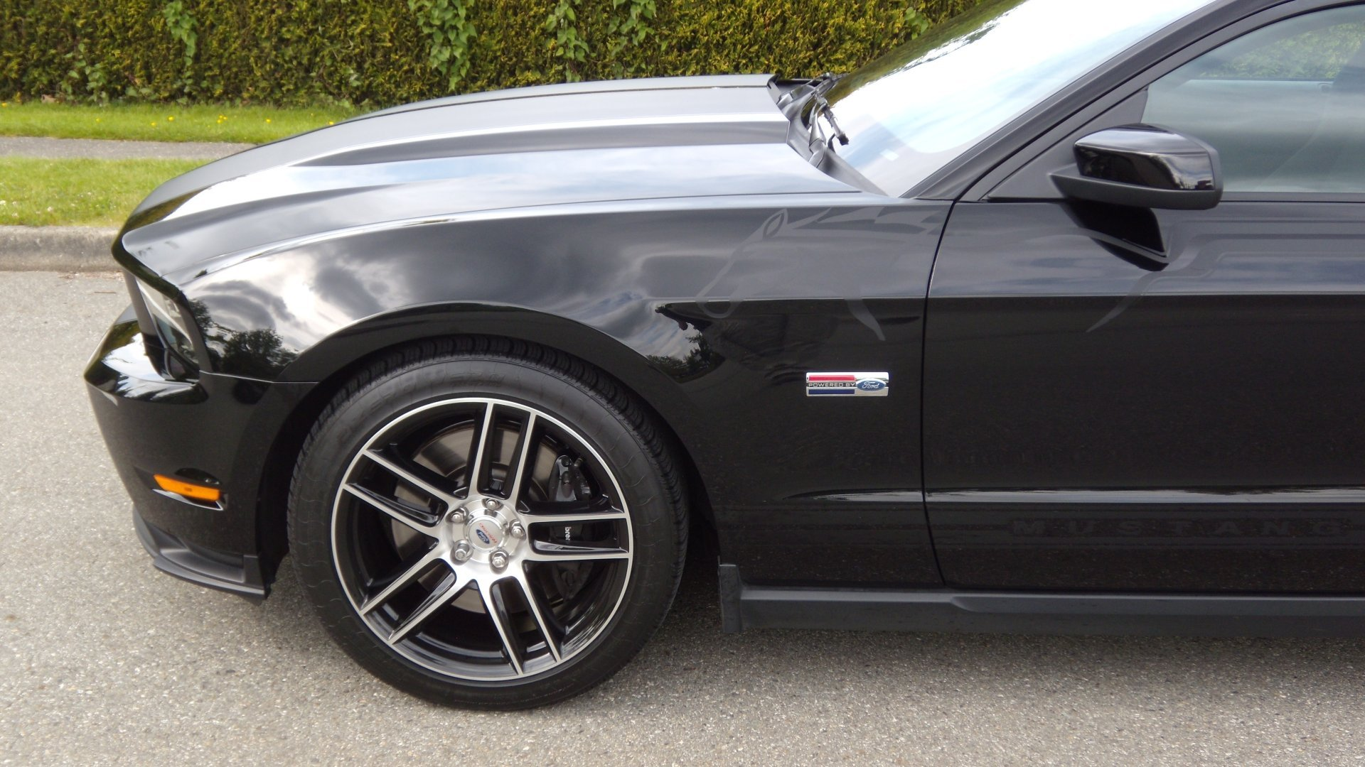 My new 19 ford racing boss 302s black wheels with machined face click image for larger version name 201220mustang20ford20racing20019 freerunsca Choice Image