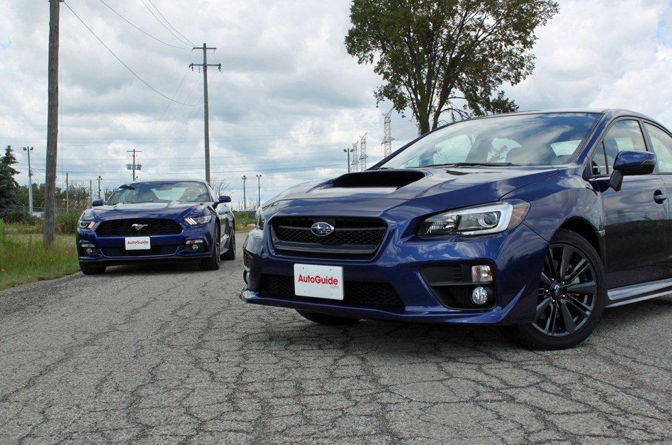 2015 Ford Mustang EcoBoost vs Subaru WRX