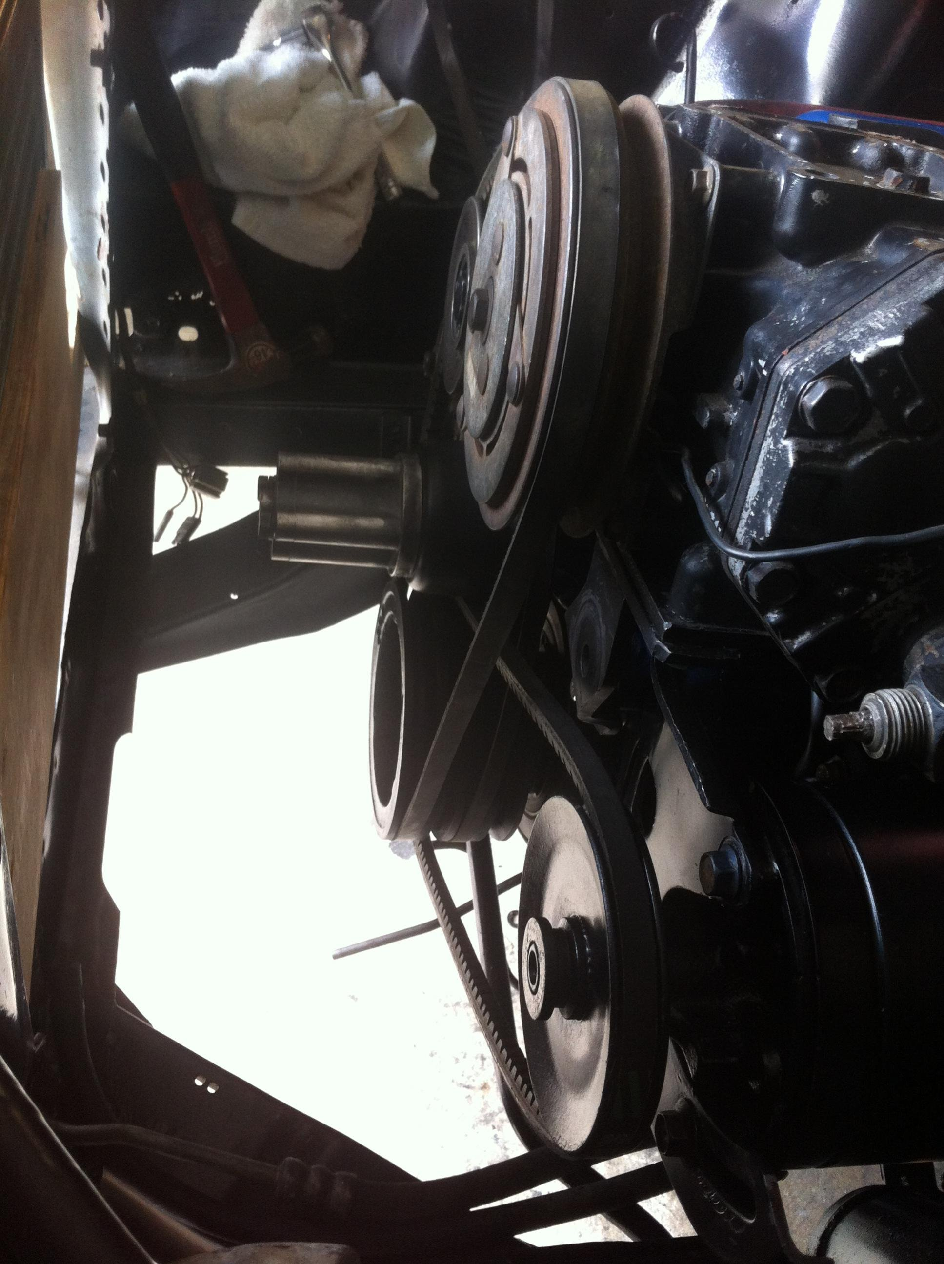 1966 Mustang 289 Bracket Help On Air Conditioning And