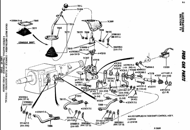 1964 1  2 Mustang Shifter Mount