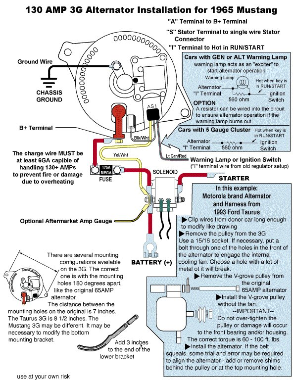 ford 3g alternator wiring diagram one wire    alternator       ford    mustang forum  one wire    alternator       ford    mustang forum