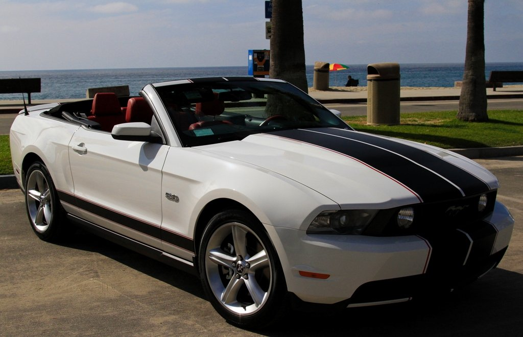 My New 2012 White Mustang Gt Premium Convertible With