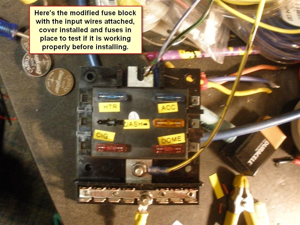 1965 coupe at 289 replace fuse panel w/ blade type fuse blocks | ford  mustang forum  all ford mustangs