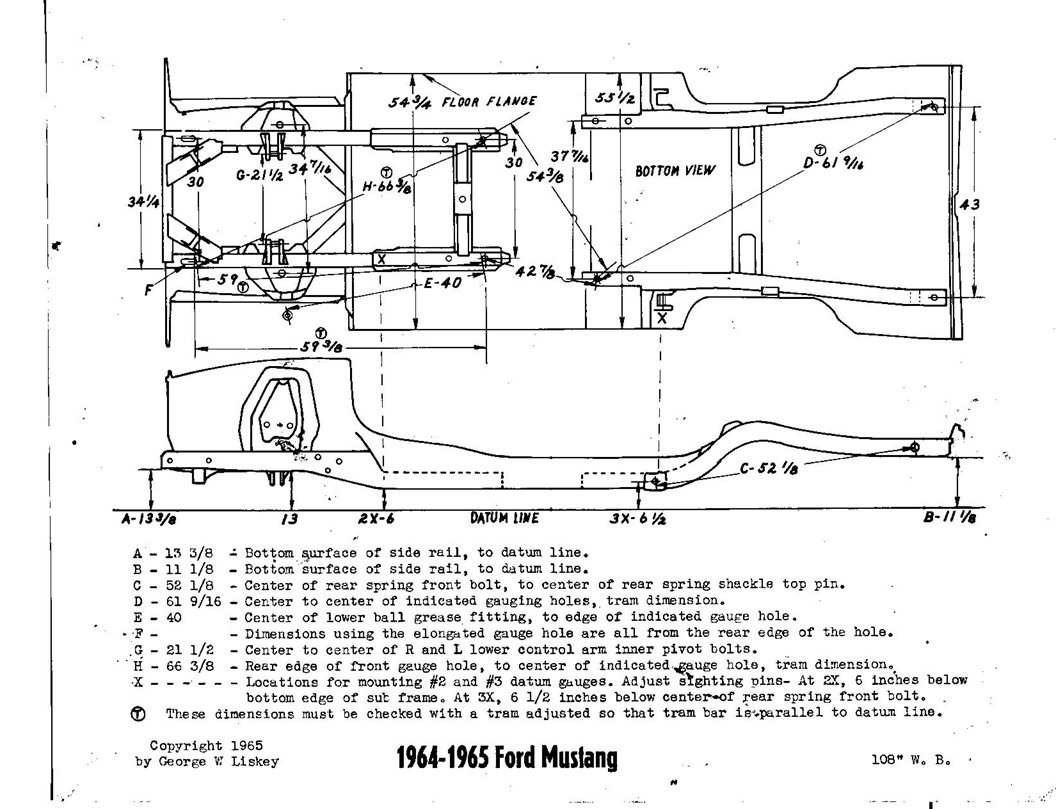 2001 Mustang Brake Pedal Diagram in addition 1963 Ford Wiring Diagram Schematics Diagrams Falcon Dolgular additionally 533913 1965 Mustang Underbody Dimensions Accuracy furthermore 277248 1966 Mustang Front Clip furthermore  on 1964 ford galaxie 500 fender