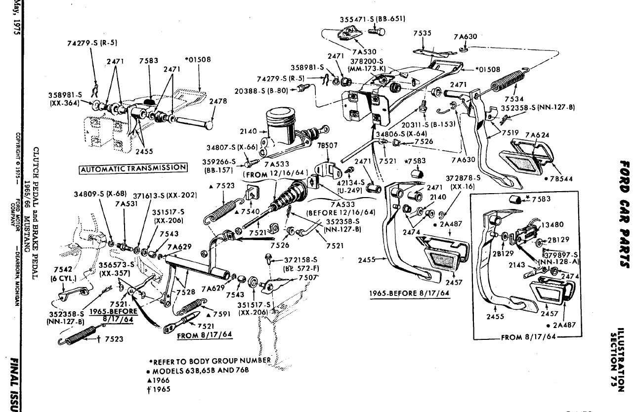 65 mustang vacuum diagram 65 mustang engine diagram 1966 mustang 6 cylinder clutch return springs - ford ...