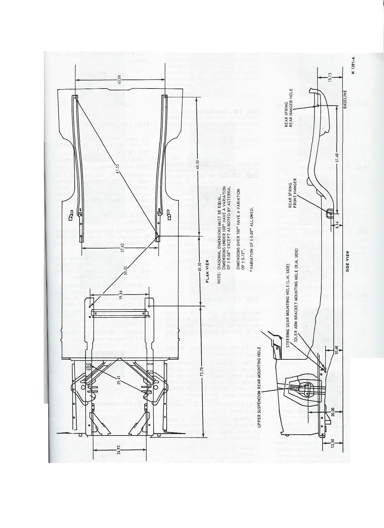 1965 Mustang Specs Or Blueprints