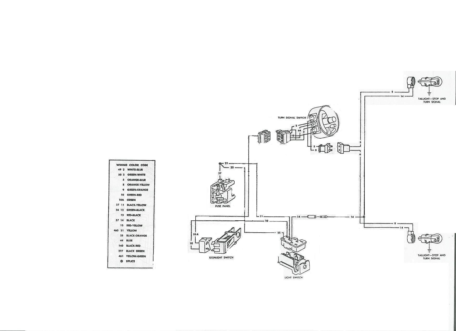 2003 mustang wiring diagram brake lamp