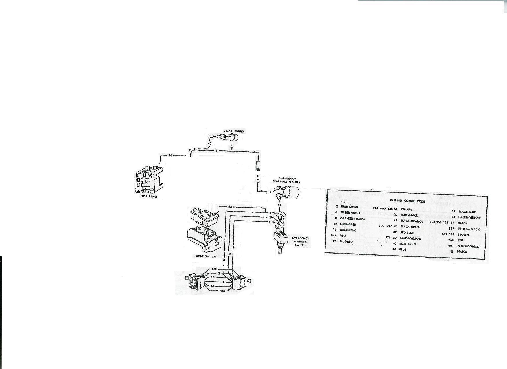D Another Rally Pac Question Tach Emergency Flashers on steering column wiring diagram