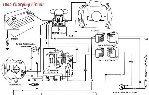 1966 Mustang Voltage Regulator Wiring Diagram  1966