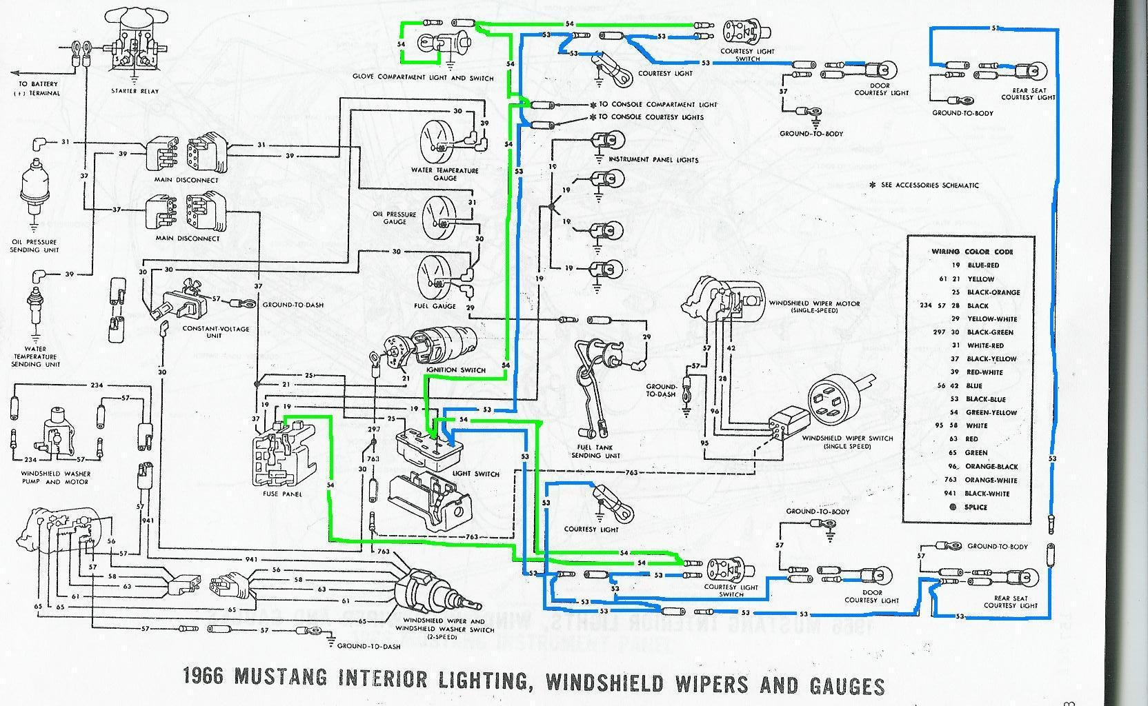 88 mustang headlight wiring diagram  | 736 x 977