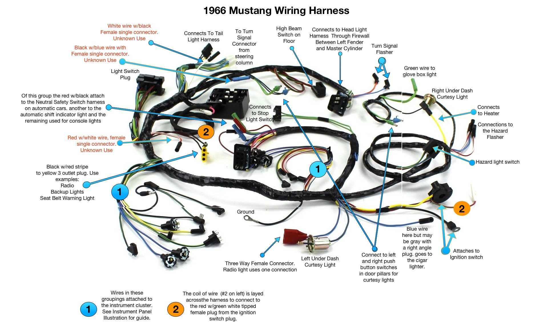 Wiring Harness Diagram Ford Mustang Will Be A Thing Radio Wire 1966 1988 66 Forum Rh Allfordmustangs Com 1999 Stereo 2000