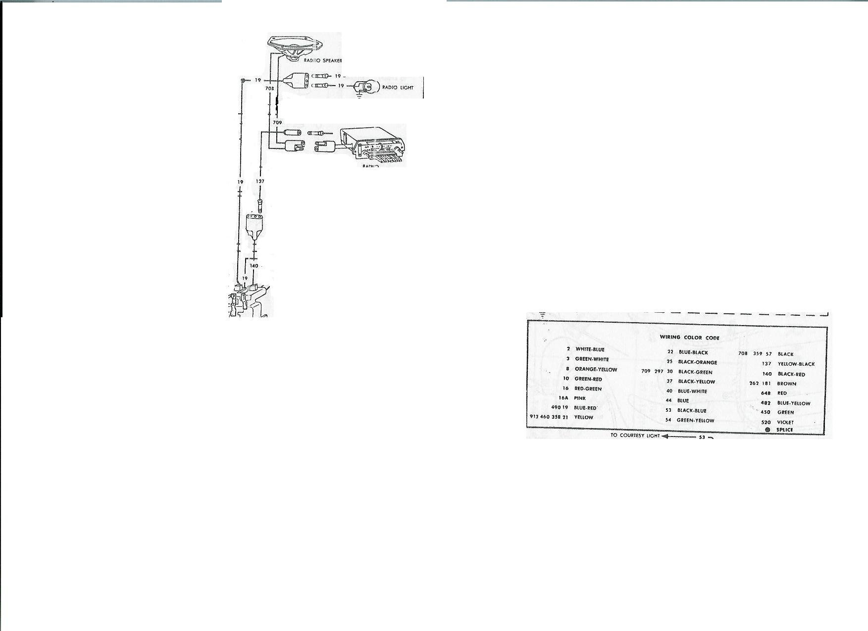 Original Am Radio Wiring On My 1966 Mustang Ford Mustang Forum VW Radio Wiring  Diagram 66 Mustang Radio Wiring Diagram