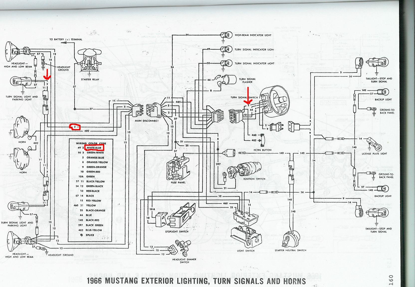 66 mustang lights wiring diagram