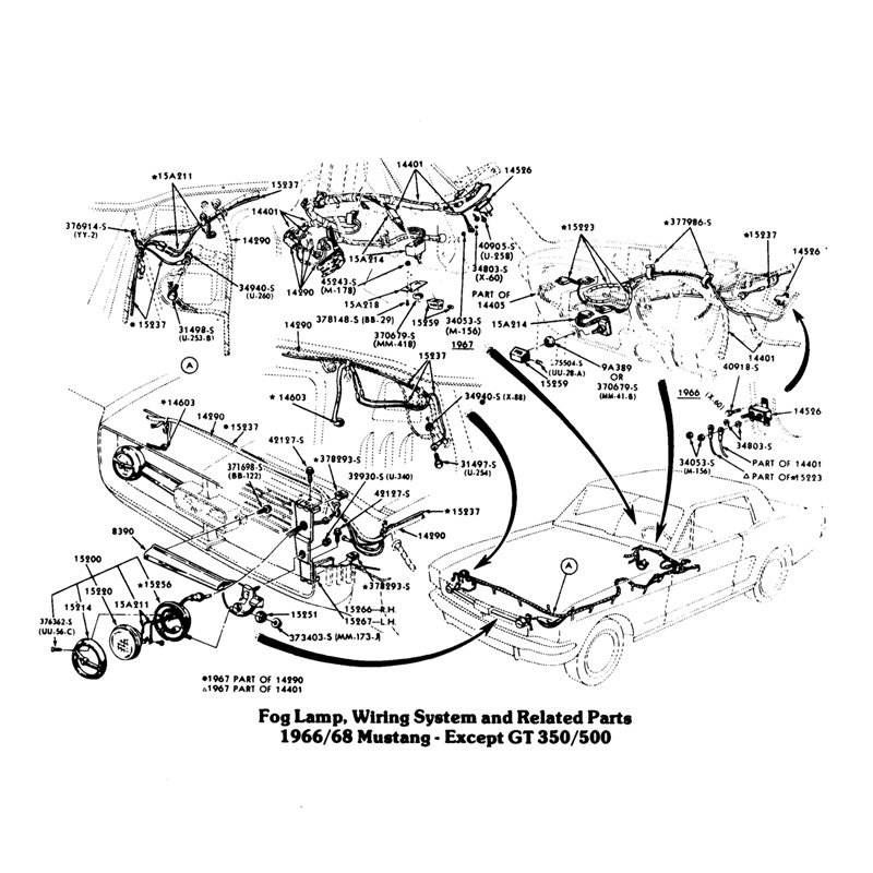 wiring diagram for ford mustang the wiring diagram fog light wiring on a 1968 mustang ford mustang forum wiring diagram