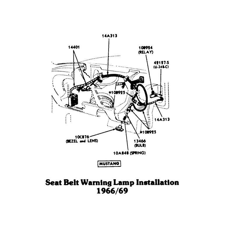 1966 mustang deluxe seat belts