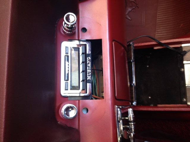 1965 1966 Ford Mustang Radio Plate