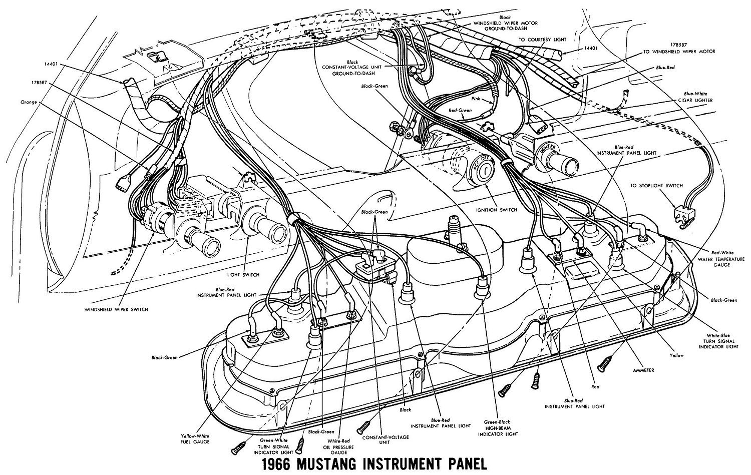 need instrument cluster wiring help vintage mustang forums  wiring diagram for instrument panel #12