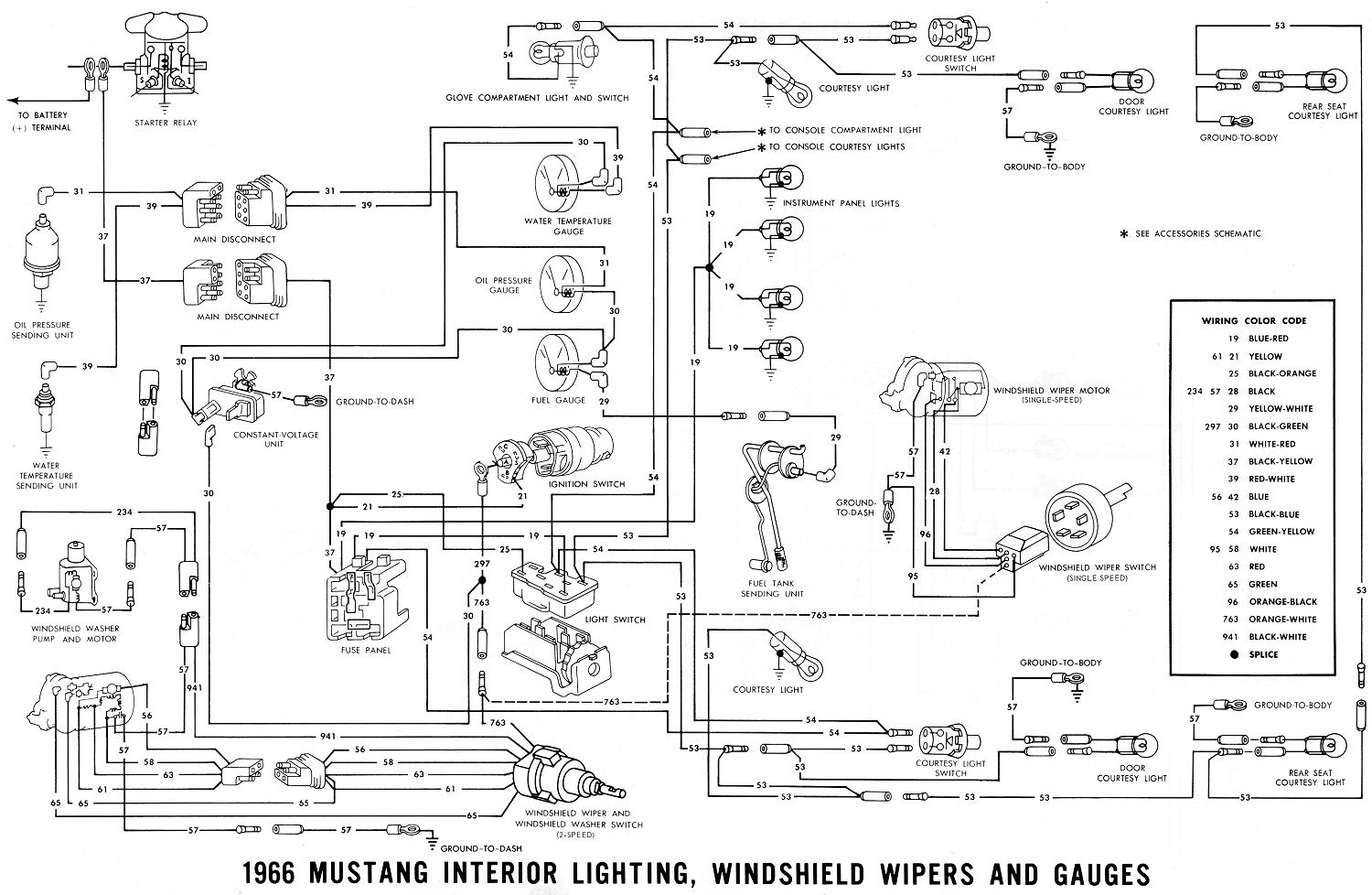 1966 mustang ignition wiring diagram 1966 mustang radio wiring 1966 ford mustang radio wiring #6