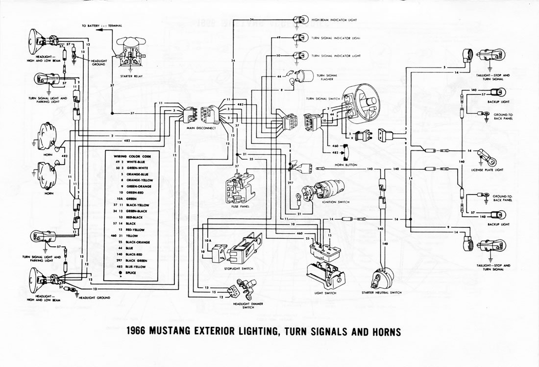 electrical 1967 ford mustang schematic