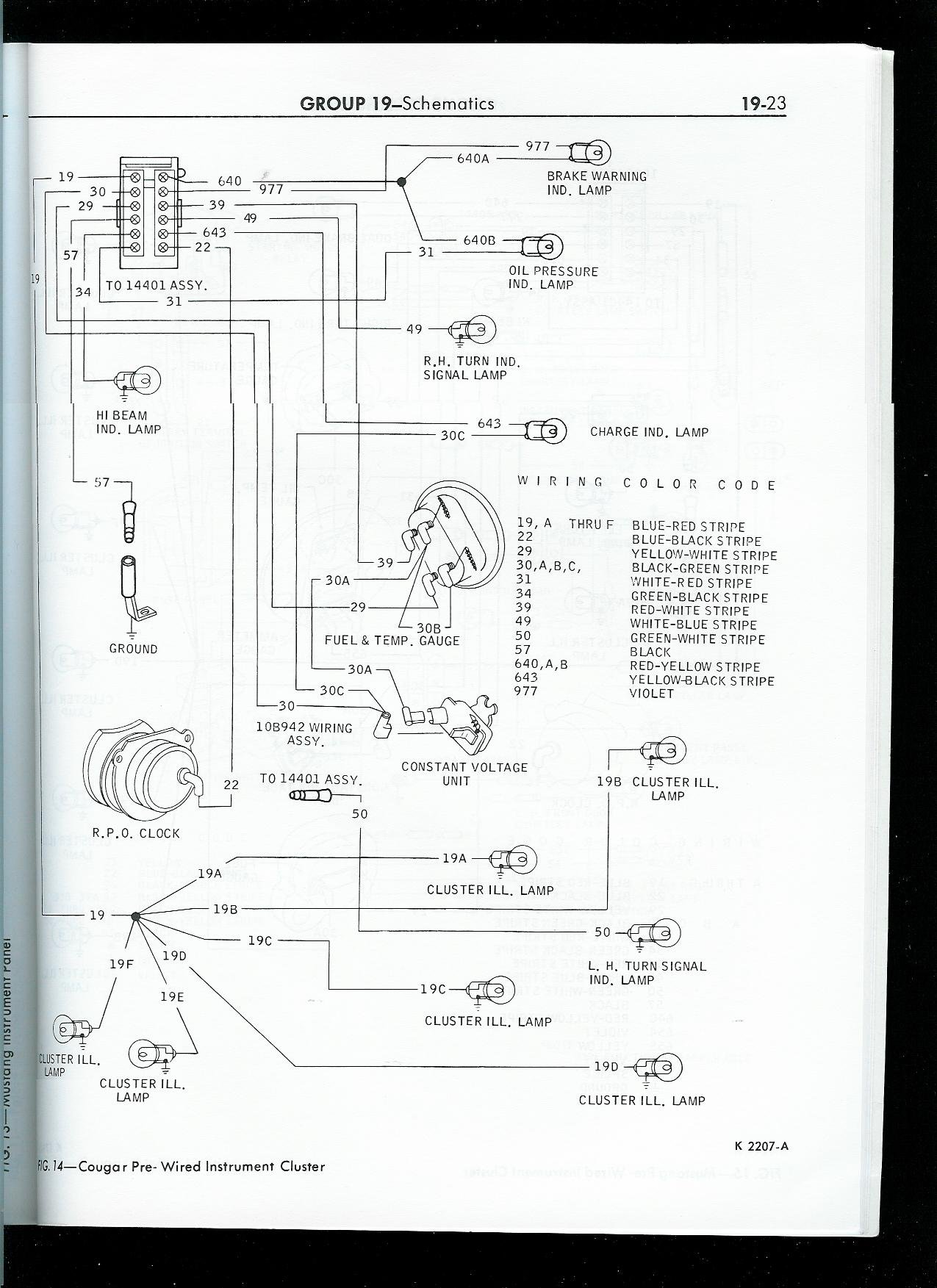 1968 Mustang Instrument Panel Diagram Data Wiring 1970 Schematic For Lights 67 Dash