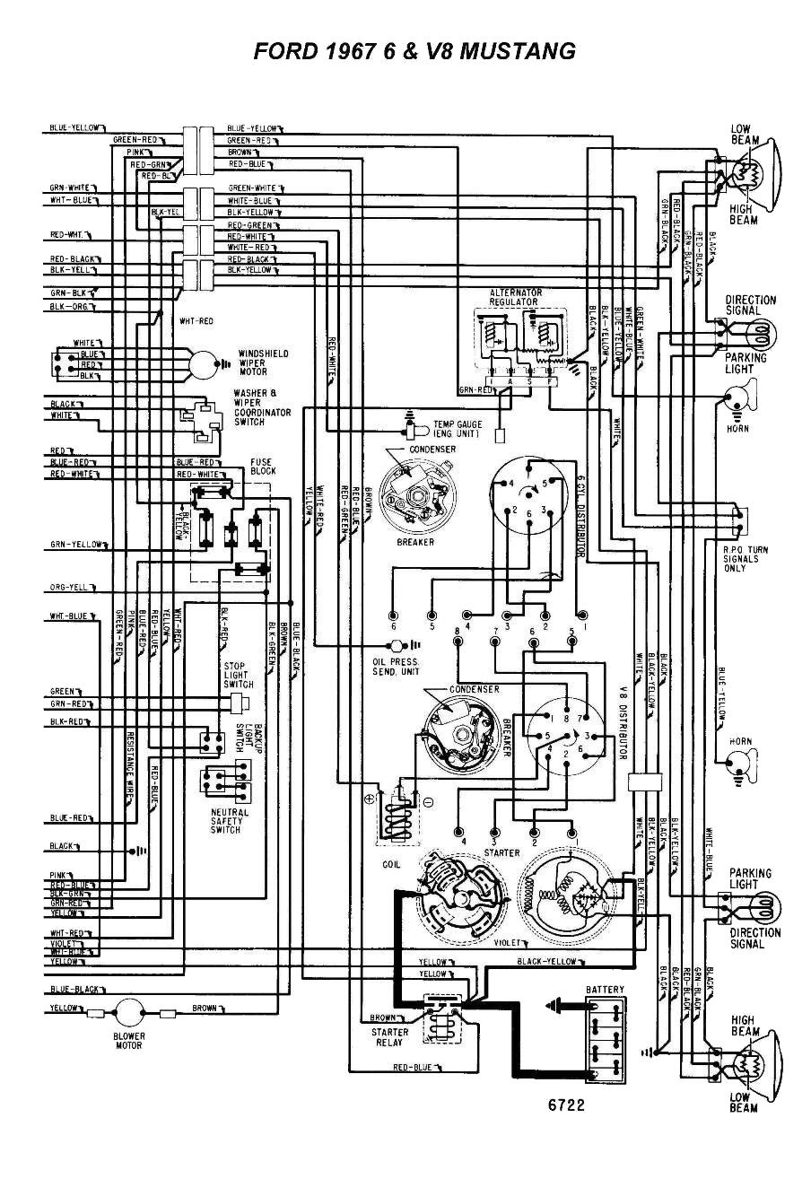 1967 Mustang Wiring Diagram Data Ford F100 Alternator F250 Horn Library