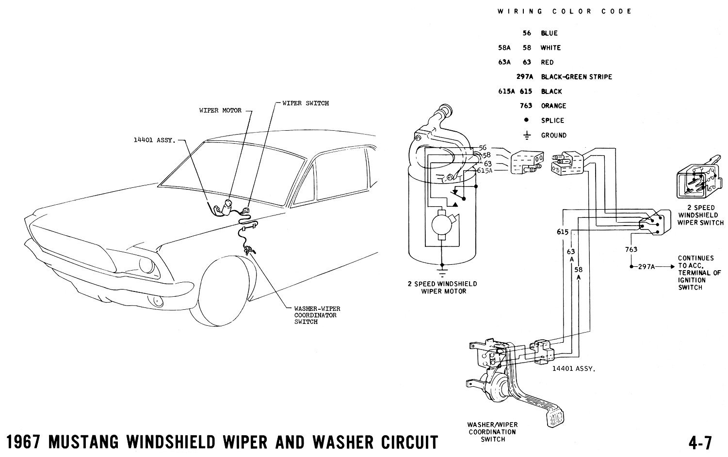 How Does A Wiper Motor Work Wiring Library Diagram Mazda Navajo Click Image For Larger Version Name 67wiper Views 10041 Size 1387