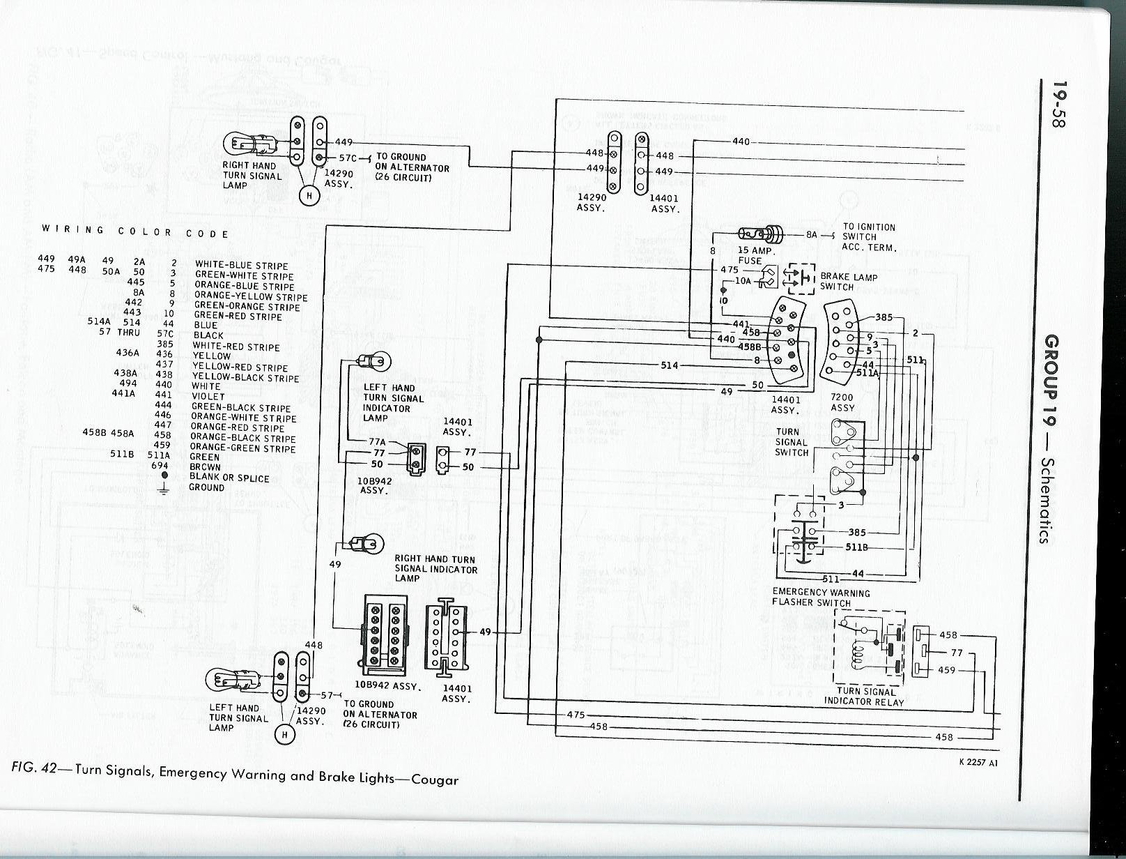 67 Cougar Turn Signal Wiring Diagram Free Download 68 Mercury Best Site Harness Mustang At
