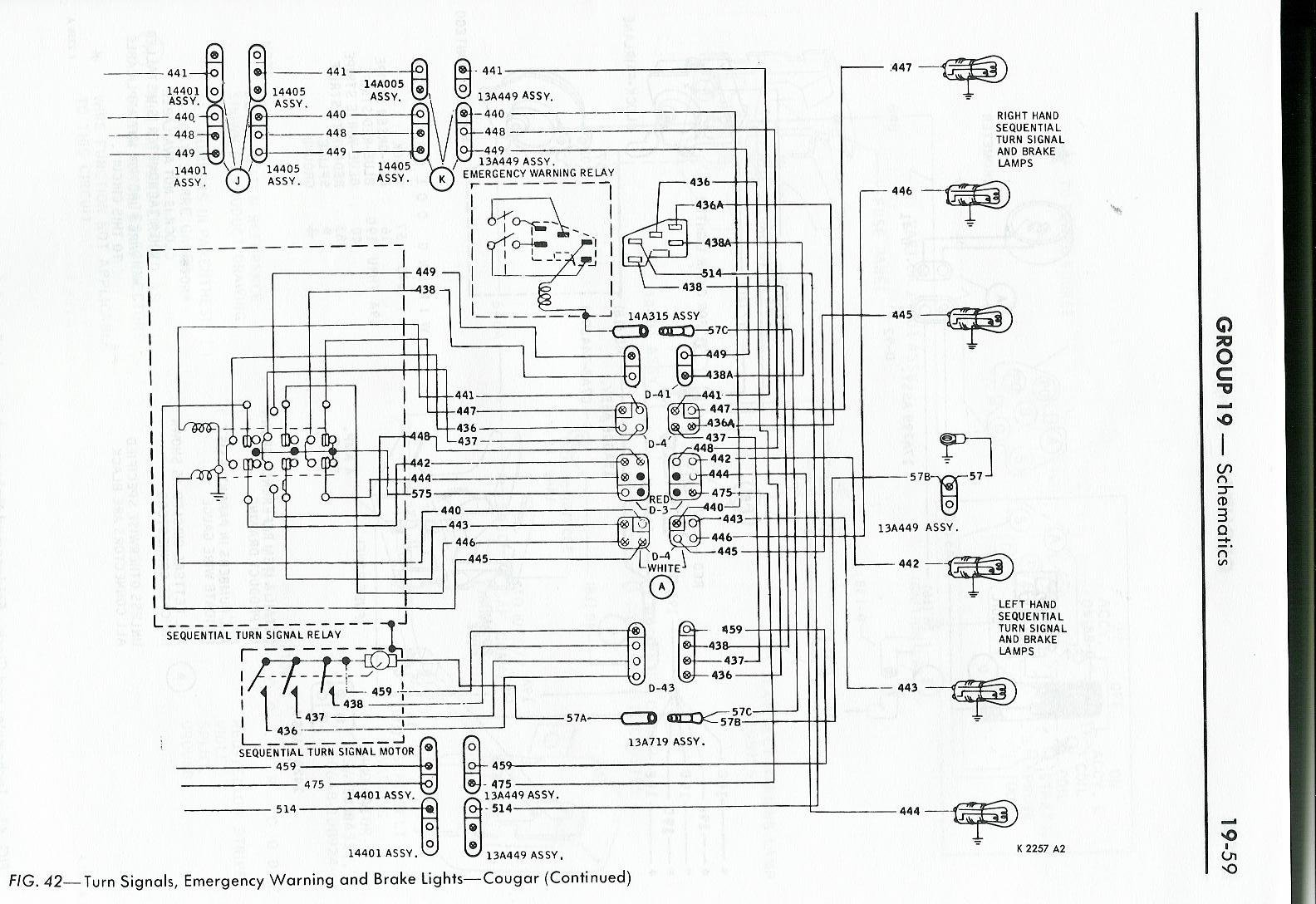 1971 ford mustang mercury cougar factory wiring diagram original 69 Mustang Wiring Diagram 1969 cougar wiring diagram