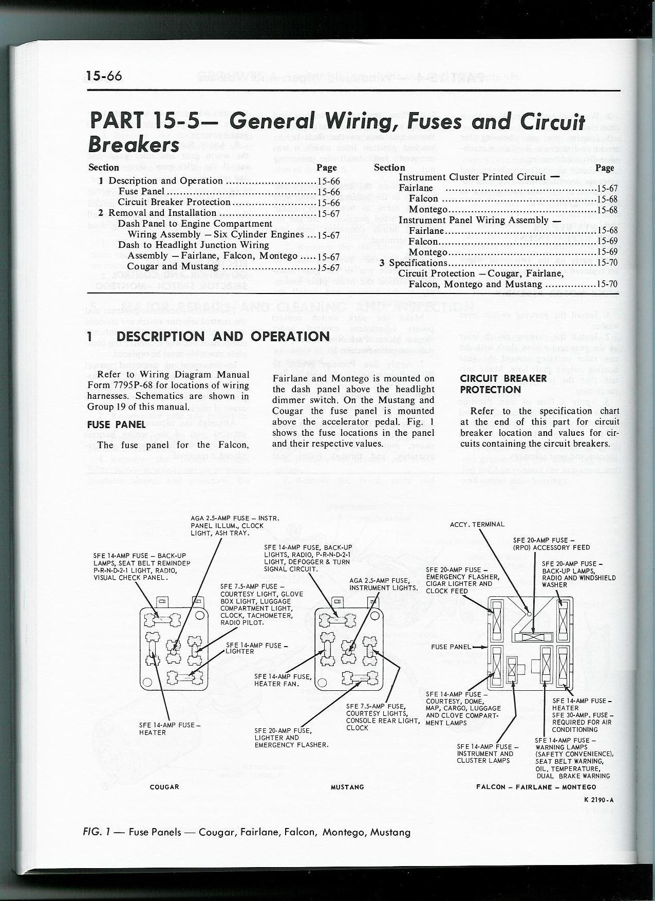 Master Wiring Diagram 68 Mustang Fuse Diagrams Reveolution Of Dash 1965 Panel Box Ford Forum Rh Allfordmustangs Com Alternator Harness