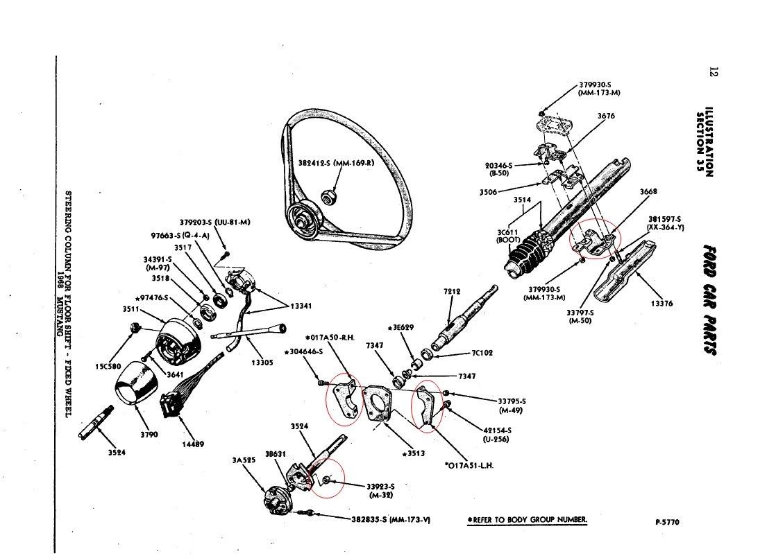 968 mustang Steering column install Please Help! | Ford Mustang Forum | 1965 Mustang Steering Wheel Wiring Diagram |  | Ford Mustang Forum