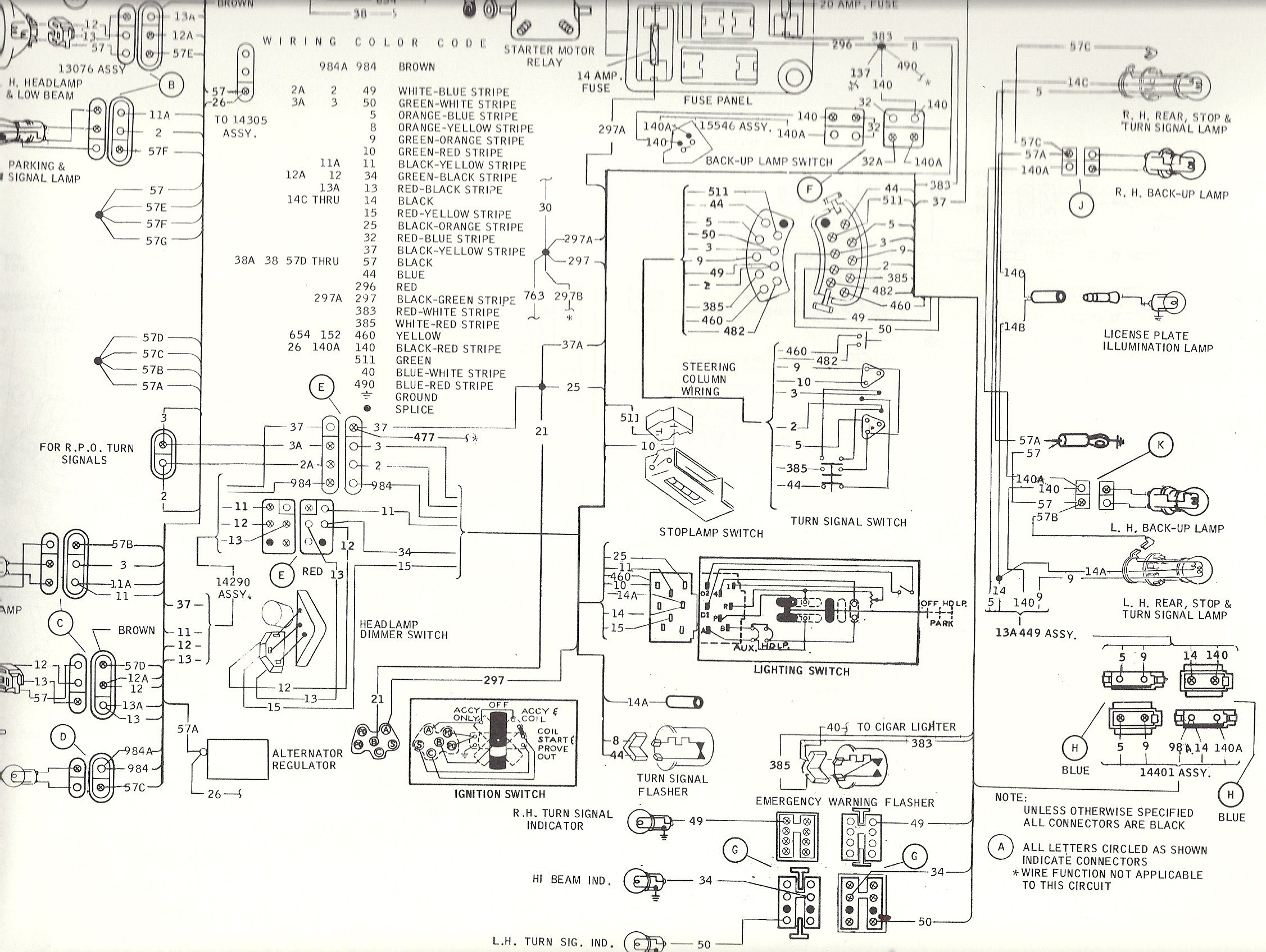 1969 steering column diagram wiring schematic